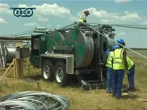 Six-bundle Transmission Line Stringing In South Africa By VISCAS With ZECK B 1500/8x2 + SPW 18