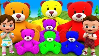 Claw Machine Color Teddy Bears Toy Learning Colors for Children with Little Baby & Boy Games Kids