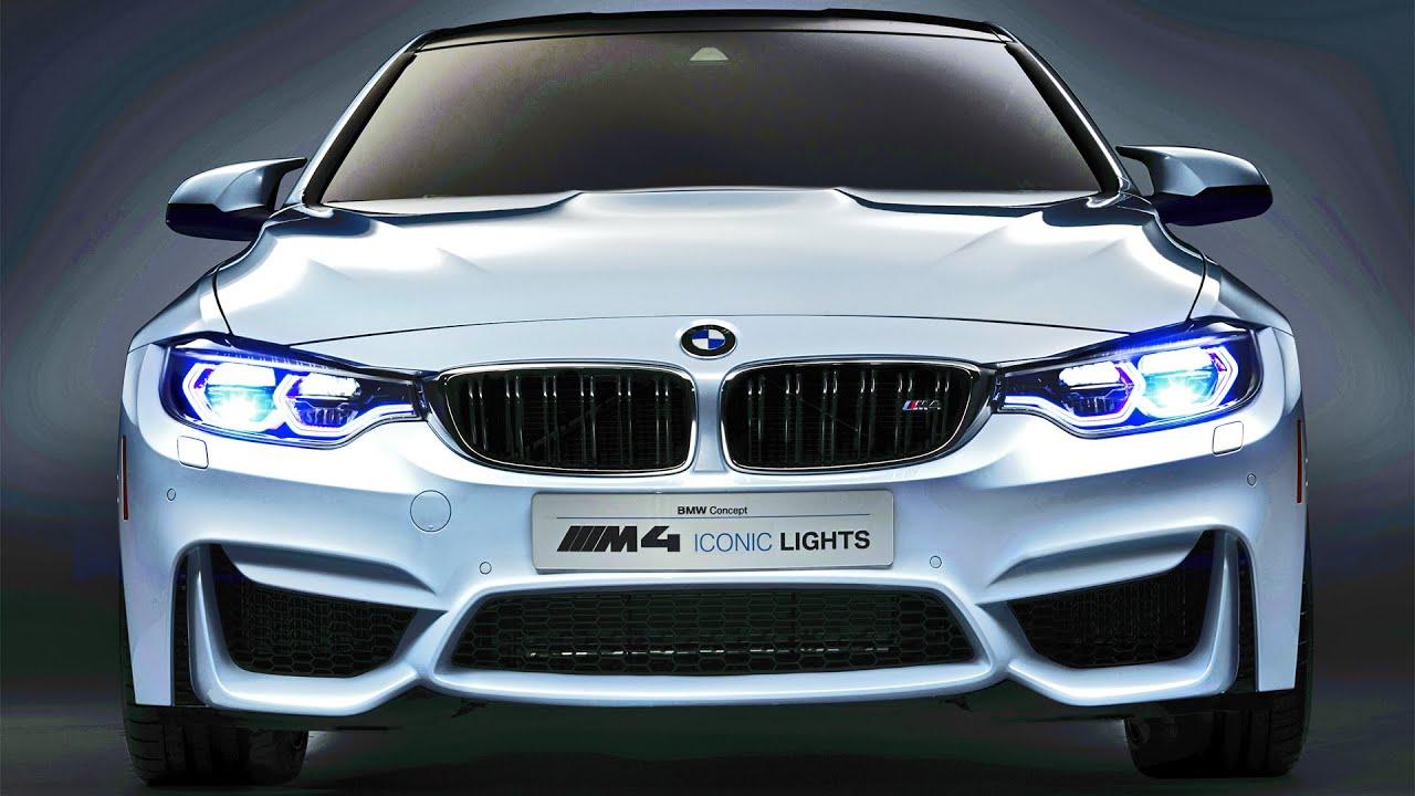 BMW M4 Concept Iconic Lights  LASER OLED Technology  YouTube