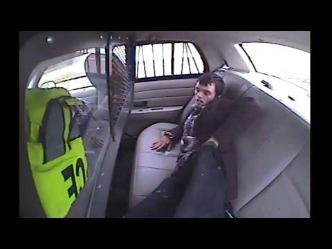 Police Car Flips Over With Prisoner Inside