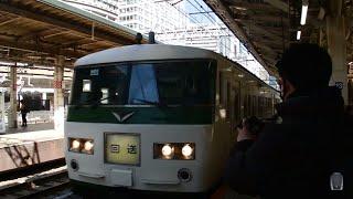 185系 特急 踊り子 東京駅 到着