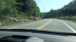 Driving highway 117 towards Lake of Bays