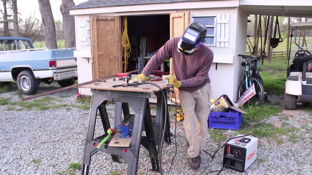 Hobart 125 EZ EZ125 welder review handler flux-cored - YouTube