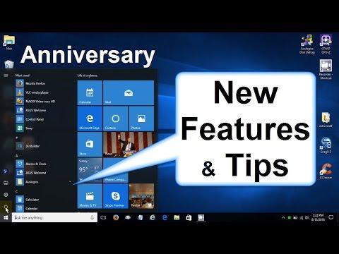 Windows 10 Anniversary Update: New Features 2016 Review/Preview Walkthrough - New DARK MODE