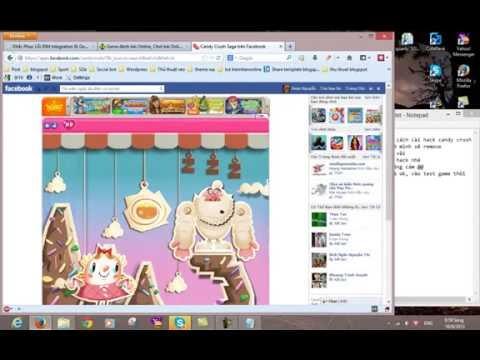 cách hack candy crush saga trên máy tính - Hướng dẫn hack candy crush saga by hot    YouTube