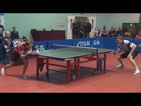 Vasiliy LAKEEV Vs Vyacheslav KRIVOSHEEV FINAL Moscow Championships 2014 Table Tennis Table Tennis