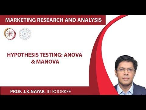 Hypothesis Testing: Anova & Manova