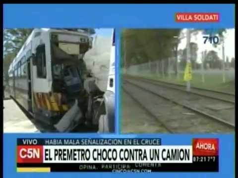 C5N - Transito: El premetro choco contra un camion