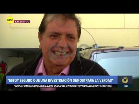 Alan García: 'Puedo decirles que para robar yo no nací'