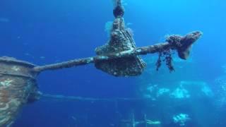 immersione sulla nave da trasporto treni Cariddi nello stretto di Messina