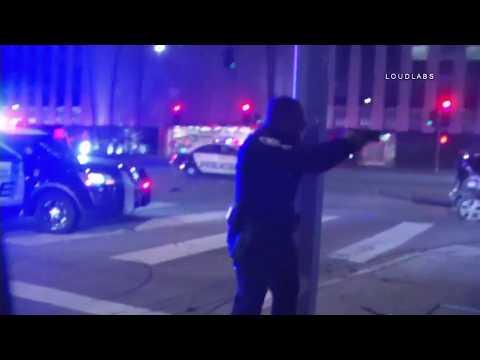 Pursuit Crash Almost Takes Out LOUDLABS Cameraman / Koreatown