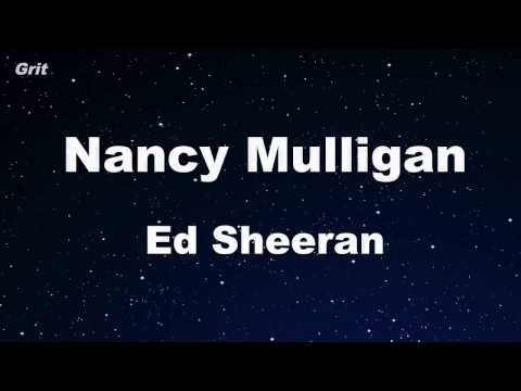 Nancy Mulligan - Ed Sheeran Karaoke 【No Guide Melody】 Instrumental