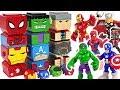 Marvel Avengers Tiki Tiki Totem cube building! Defeat Thanos! #DuDuPopTOY