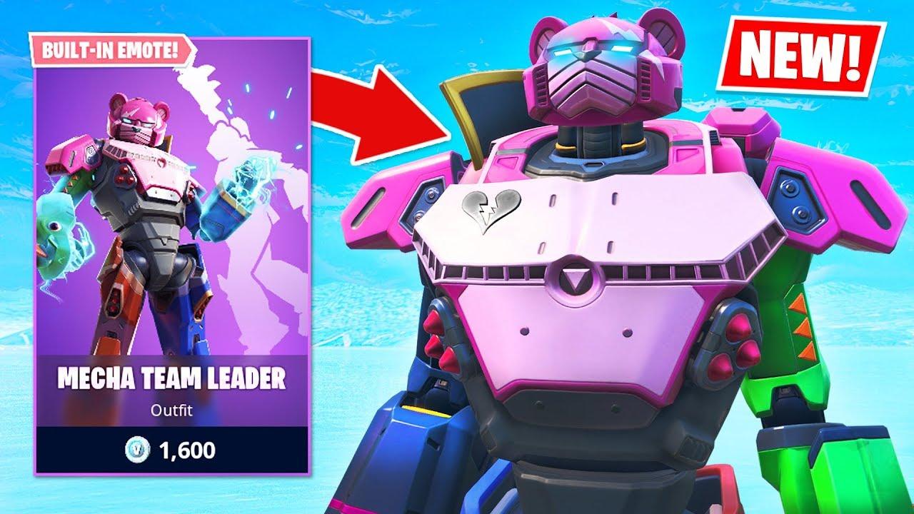 PLAY AS THE ROBOT!! New MECHA TEAM LEADER Item Shop Skin! (Fortnite Battle  Royale)