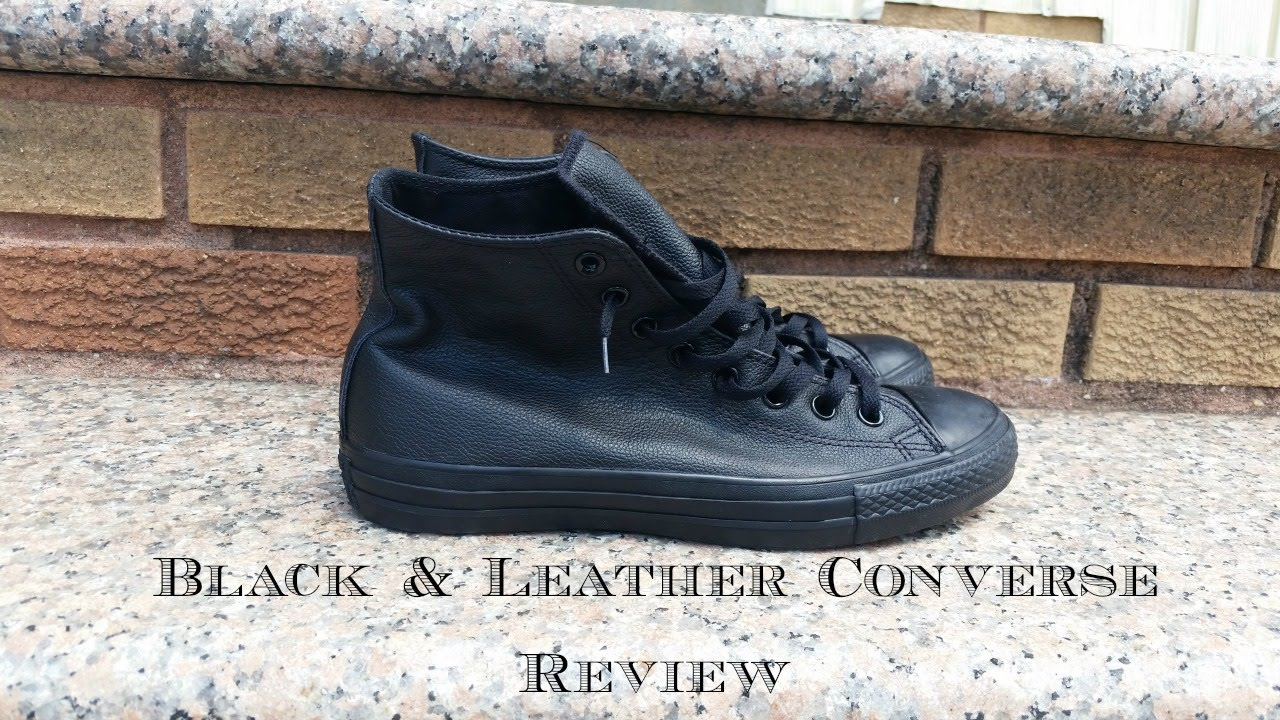 388b2b379466 The Chuck Taylor All Star Leather Sneaker in Black Monochrome Review ...