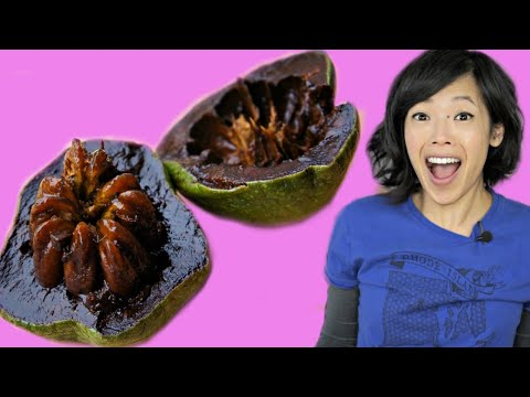 BLACK SAPOTE - chocolate pudding fruit - TASTE TEST | FRUITY FRUITS
