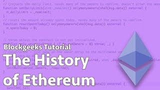 The History of Ethereum