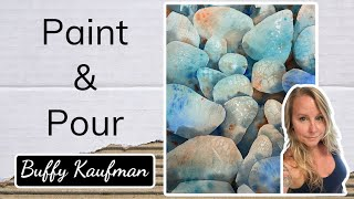 Watercolor Paint and Pour Stones / How to Paint Rocks in Watercolor