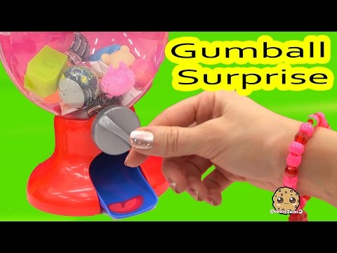 Random Blind Bags Filled Gumball Machine Toy Surprise Video Cookieswirlc