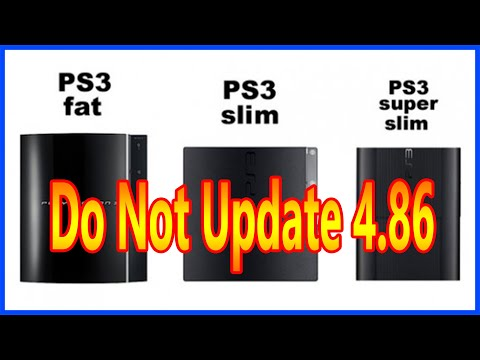 PS3 New Update 4.86 Do Not Update For Now 2020!!