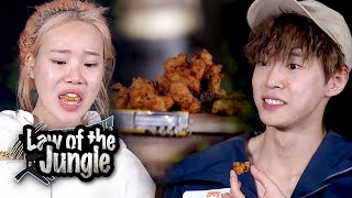 Do Young & JooE's  Fish Cake Mukbang [Law of the Jungle Ep 392]