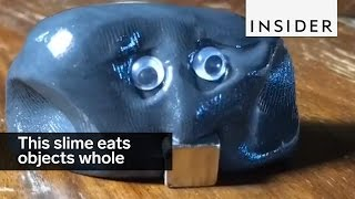 This slime eats objects whole