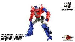 "Video Review of the Transformers Age of Extinction: Voyager Class ""Evasion Mode"" Optimus Prime"