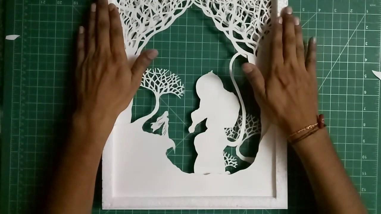 how to make a paper cut light box diy youtube. Black Bedroom Furniture Sets. Home Design Ideas