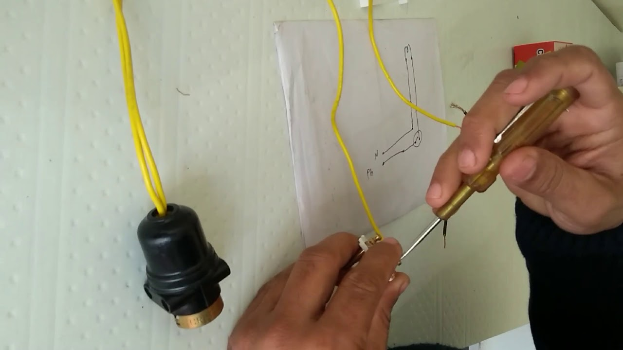 How To Connect Bell Push Switch Or Two Pin Plug And Bulb Wiring An Outlet With Switches Holder