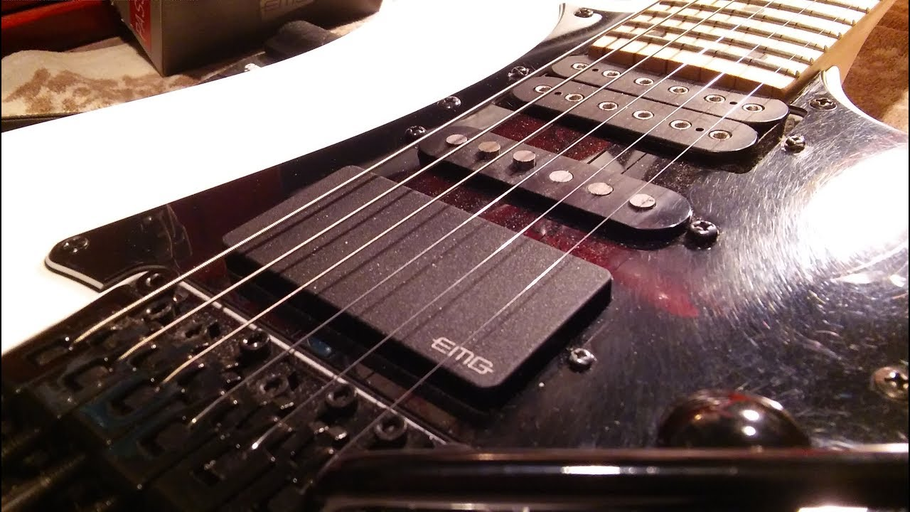 EMG Pickups : Installing EMG H4 in Ibanez Electric Guitar Pickups on