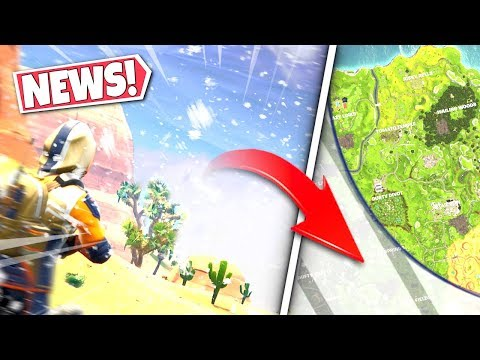 *NEWS* LARGE SNOWSTORM CIRCLE *COVERS* FORTNITE MAP AS *SEASON 7* APPROACHES! SEASON 6-7 UPDATE!: BR