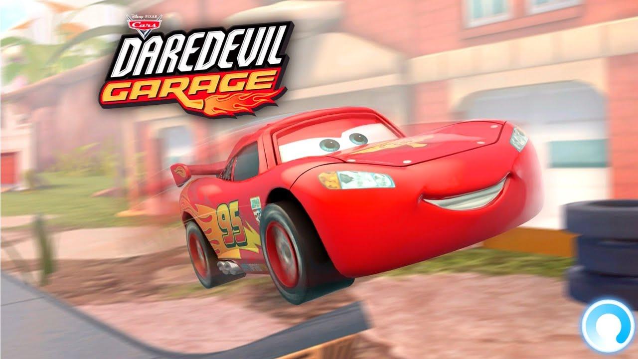 lightning mcqueen cars daredevil garage game gameplay trailer