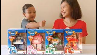 Anak Lucu Unboxing Mainan Robocar Poli - Review Robocar Poli