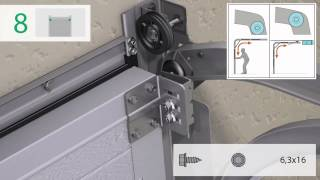 видео Ворота подъемные секционные промышленные с вертикальным подъемом в Москве. Цена вертикальных секционных ворот