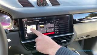 2019 Porsche Cayenne PCM infotainment system walkthrough