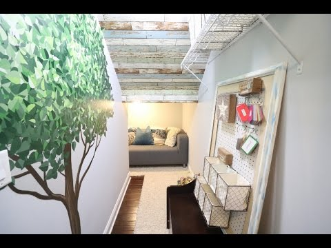 CLOSET TURNED INTO A TREE HOUSE!!! ROOM REVEAL/UPCYCLE/DIY/NUWALLPAPER