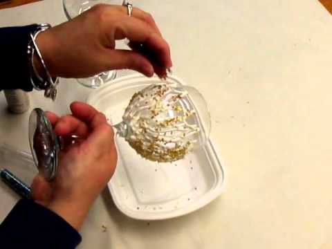 Creating a Beaded Painted Wine Glass Video