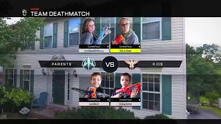 Nerf War: First Person Shooter Call of Duty (Parents vs Kids 4)