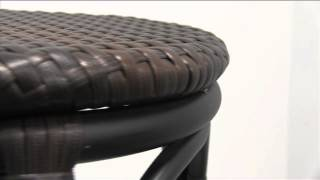 Marina Synthetic Wicker Outdoor Barstool by BFM