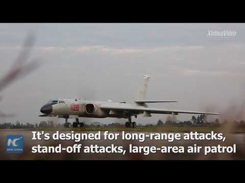 Check out China's H-6K medium-long range bombers