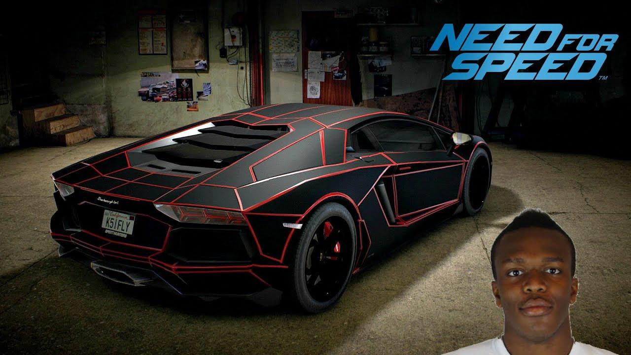 Ksi Lamborghini Black And Red Car Image Idea