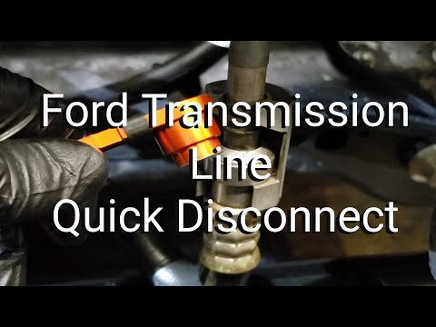 How To Disconnect A Ford Transmission Line Quick Disconnect Youtube