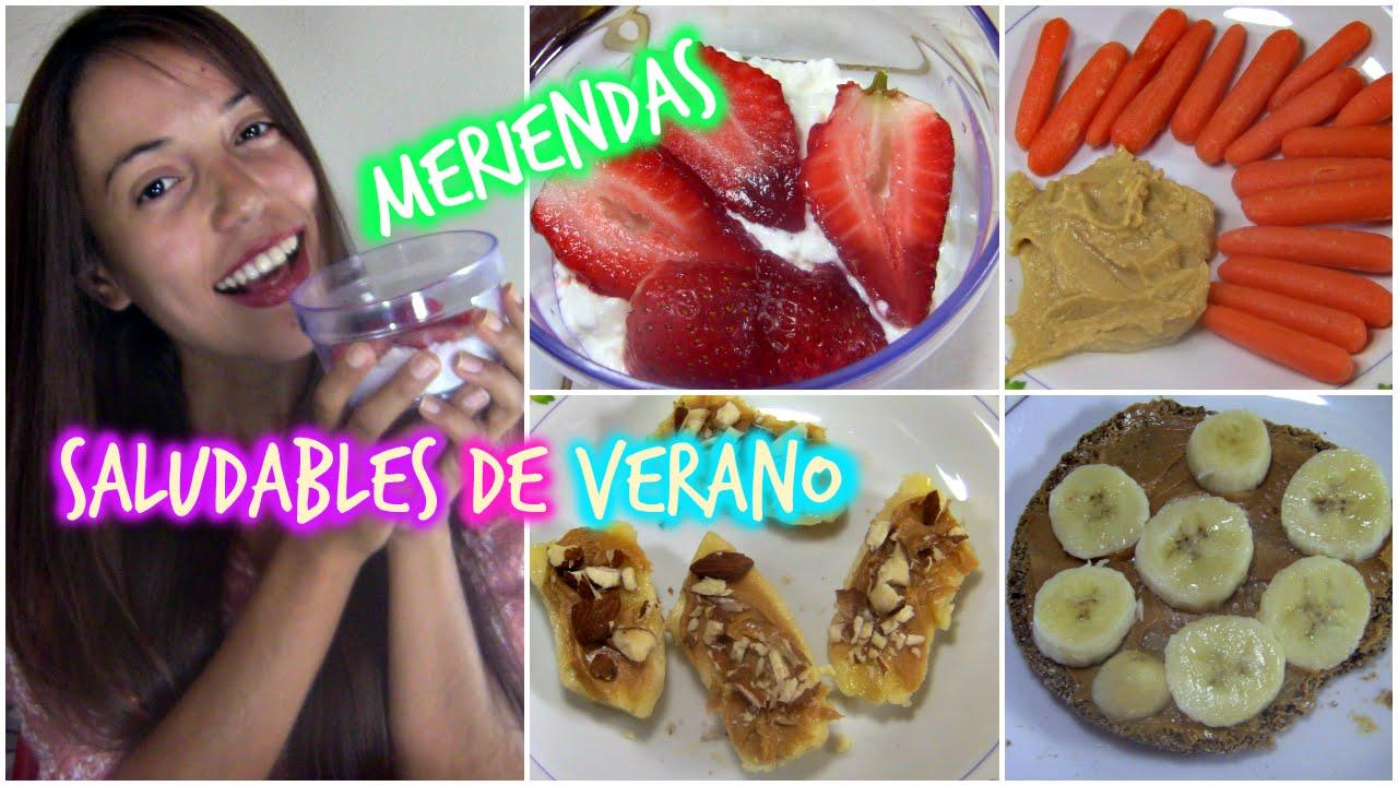 Meriendas saludables y faciles en menos de 5 minutos para for Comidas de verano saludables