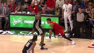 Trae Young Embarrassed LaMarcus Aldridge With Ridiculous Handles and Assist