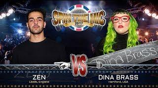 Zen vs Dina Brass Full Battle | Spin The Mic 2017