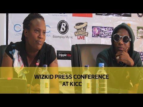 Wizkid press conference at KICC
