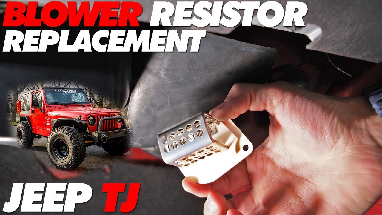 Jeep Tj Fan Blower Resistor Replacement Youtube