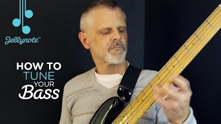 How To Tune A Bass Guitar Tutorial with Mike Brandenstein (Jellynote Lesson)