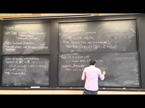 MIT 6.854 Spring 2016 Lecture 15: Gradient Descent
