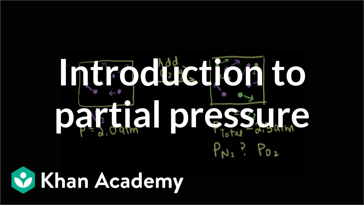 Introduction to partial pressure (video) | Khan Academy